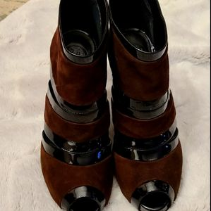 Tory Burch Lucille Boot Suede/Patent